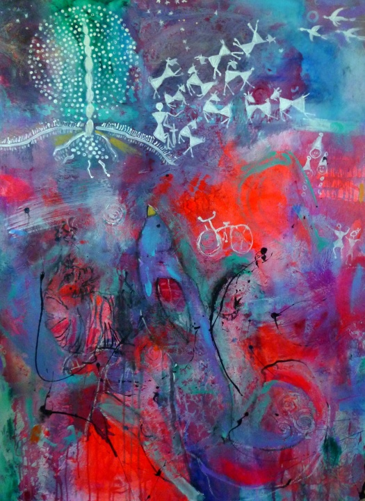 """Upside Down by Suzanne Edminster, 36"""" x 48"""""""
