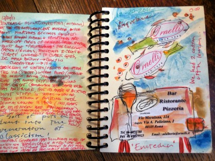 Sketchbook, Suzanne Edminster-- Suzanne and Scott in Rome