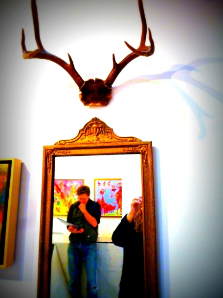 Antlers, Mirror, Spouse