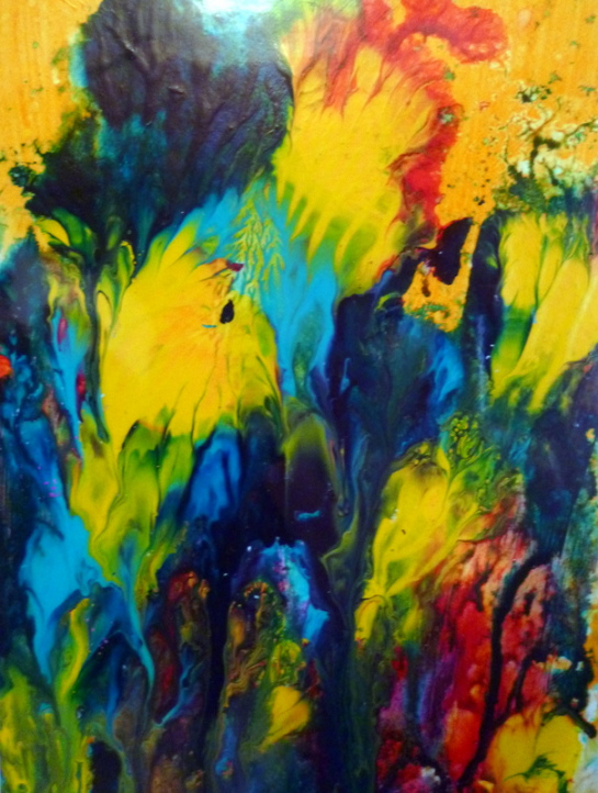 Suzanne Edminster, Sea Garden, acrylic on paper, SOLD