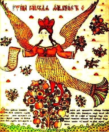 Slavic FolkArt Alkonost, or Fairy Bird