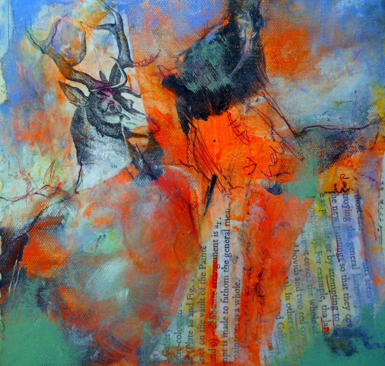 """Suzanne Edminster, Mixed media, 12"""" x 12"""""""