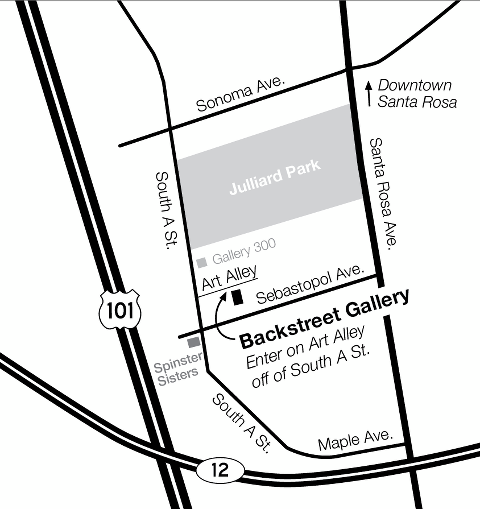 Backstreet Gallery Map