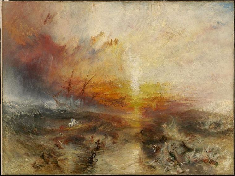 Turner's Slave Ship, a painting seen and reviewed by Mark Twain, another cat owner