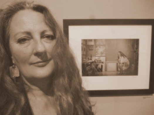 Suzanne Edminster with portrait from by Bob Cornelis from Studio: 50 Sonoma County Artists