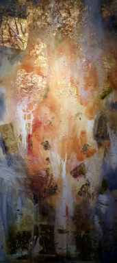 Aspen by Suzanne Edminster at Salworkstudio original mixed media on canvas