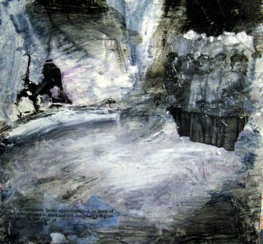 Suzanne Edminster, mixed media on paper
