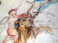 Suzanne Edminster, sketch at Getty Center