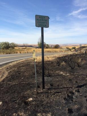 Keep Klickitat County Green sign