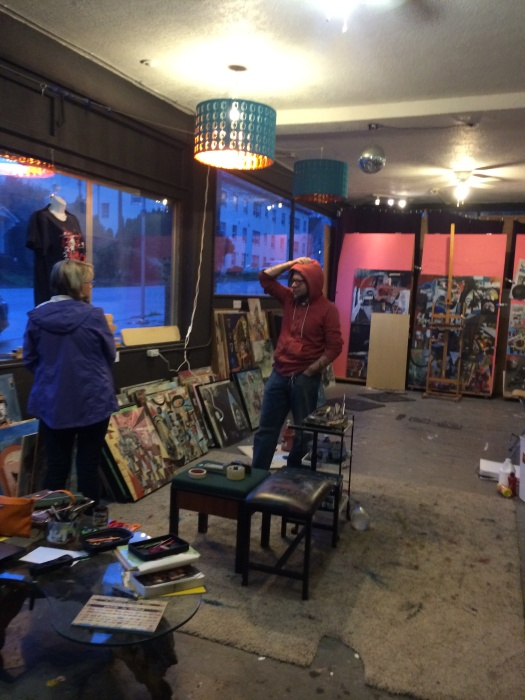On a studio visit to Jesse Reno