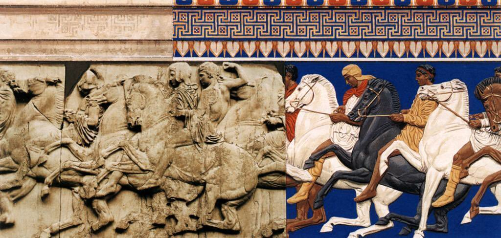 Gods in color frieze