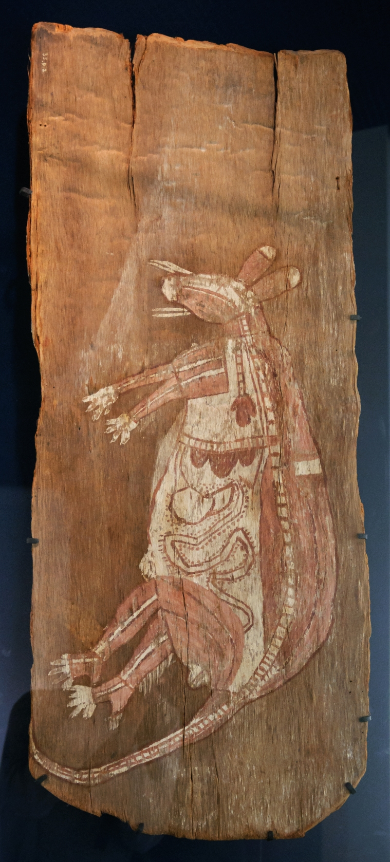 Ancêtre totémique kangourou - Kunwinjku - Musée du quai Branly, Paris