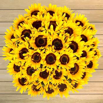 Does the ball of sunflowers remind you of anything?