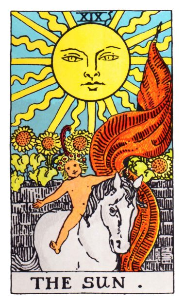 over underworld tarot card sun